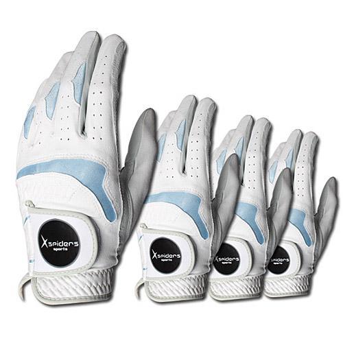 [Xspiders] X스파이더스 부분양피 골프장갑 / 4장1세트 / 남여공용 / 왼손잡이(오른손장갑)보유 / 왼손 오른손 양손 / 통기성이 우수한 반양피 골프장갑