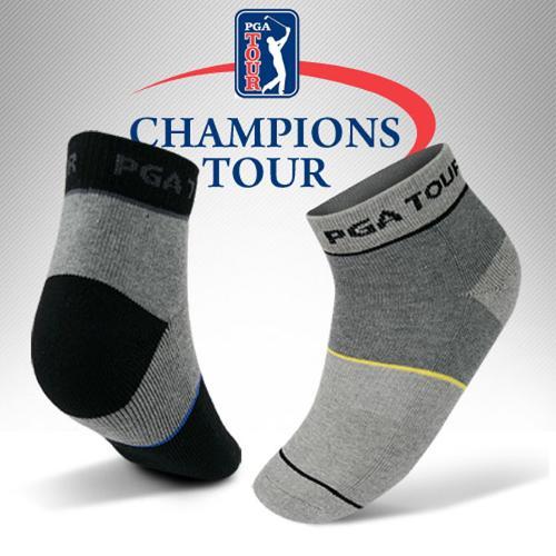 [설선물용]PGA TOUR正品 바닥쿠션 골프양말 선물세트-2족세트