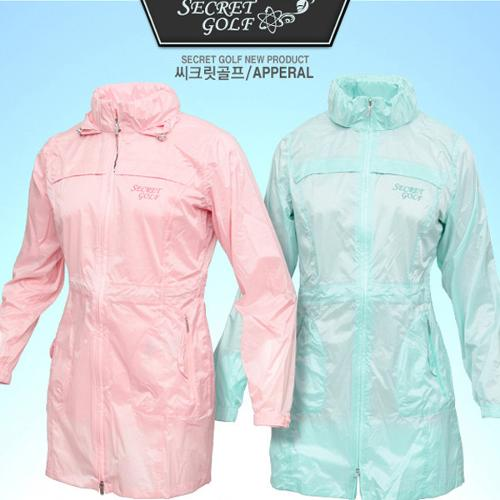 SECRET 13WRJ 초경량 심실링처리 완벽방수 여성용 레인코트 바람막이 비옷 /간절기필수품