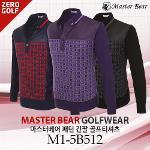 [MASTER BEAR] 마스터베어 패턴 긴팔 골프티셔츠 Model No_M1-5B512