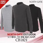 [NORTH GATE] 노스게이트 기모 반목 라운드 티셔츠 Model No_CB1821