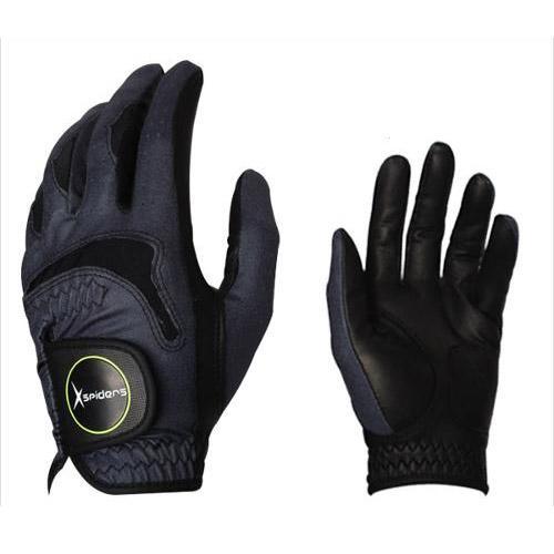[Xspiders] X스파이더스 부분양피(반양피) 블랙 골프장갑/친환경가죽사용