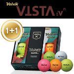 [1+1특가] 볼빅 Vista iv 4피스 골프공 1/2 DZ (6알) (화이트,옐로우,오렌지,그린,핑크)