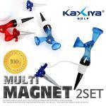 [KAXIYA] 높이가 다른 두개의 헤드가 적용된 멀티 마그넷 골프티 2세트