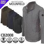 [MOUNFIELD] 마운필드 멜란지 하프넥 티셔츠 Model No_CB2008