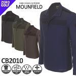 [MOUNFIELD] 마운필드 하프집업 배색 카라 셔츠 Model No_CB2010