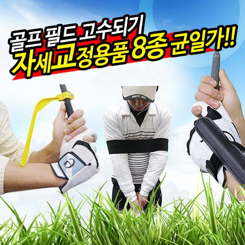 [균일가]스윙/퍼팅 골프자세교정용품 8종모음 오버스윙방지 골프교정용품