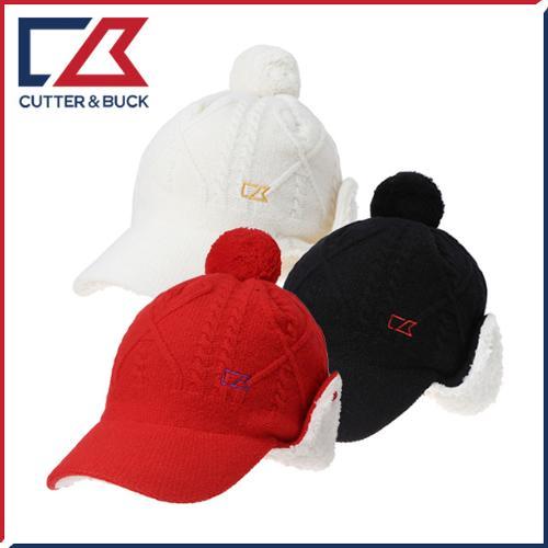 [애니카소렌스탐의 선택] 커터앤벅 여성 겨울 방한 램스울 니트소재 방울 귀마개 모자 - 1454-214-40