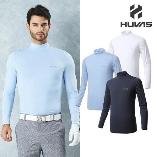 [시즌특가]휴베스골프 HUVAS GOLF 남성 ICE PLUS/CREORA 크레오라 원단사용 냉감 스판 기능성티셔츠 - 17311TS03