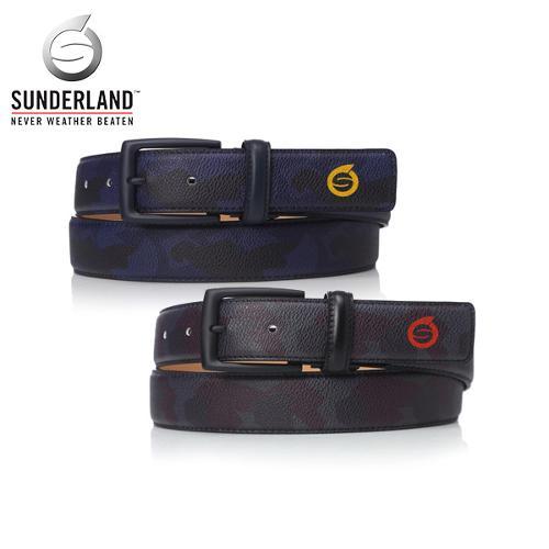 [Sunderland Of Scotland] 선덜랜드 남성 최고급 천연 가죽 로고프린팅 카모플라쥬 수동벨트 - 16751BT51