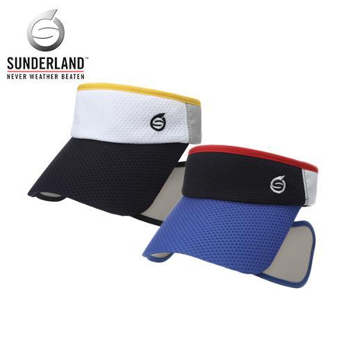 [시즌특가]선덜랜드 남성 면소재 와플조직 배색 슬라이드창 골프모자/썬캡 - 16721CP45