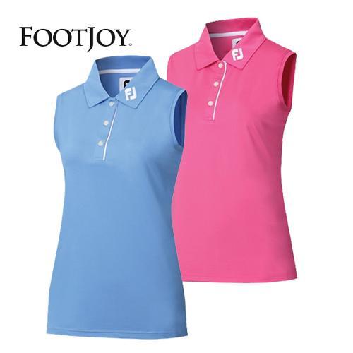 풋조이 슬리브리스 인터록 민소매 셔츠 여성 골프상의