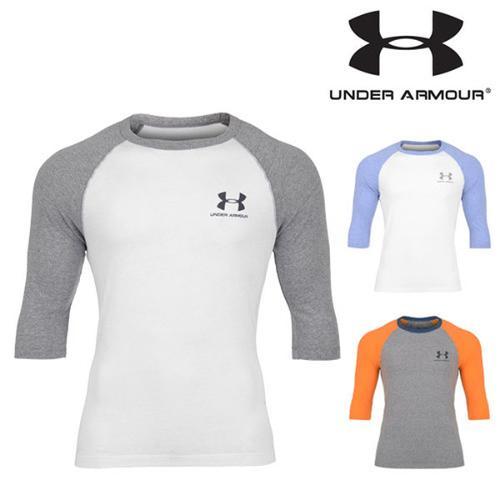 UNDER ARMOUR 언더아머 히트기어 루즈핏 3/4 슬리브 남성 트레이닝 셔츠 MTR2737 스포츠의류