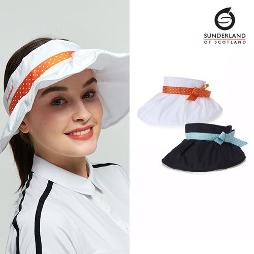[시즌특가]선덜랜드 SUNDERLAND 여성 셔링포인트 리본 골프모자/썬캡 - 16812CP25