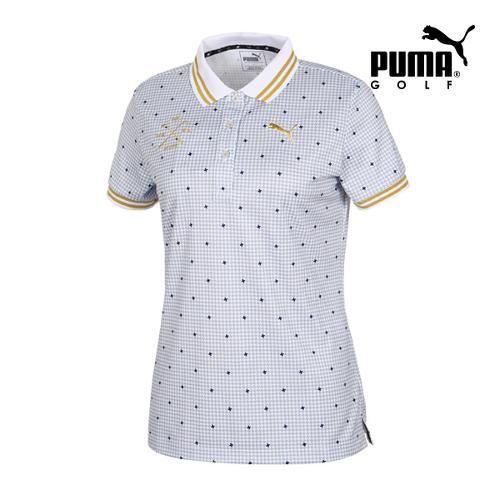 [푸마골프] 여성 Multi 패턴 PK 반팔 티셔츠 92355803_GA