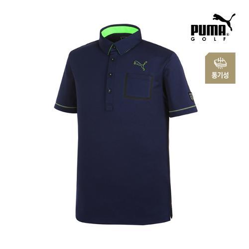 [푸마골프] 남성 체스트 포켓 PK 반팔 티셔츠 92351402_GA