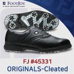 풋조이 FJ ORIGINALS-Cleated 45331 골프화 남성 블랙