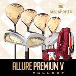 [2018년신제품]엠유 스포츠 ALLURE PREMIUM V 프리미엄 골드헤드 여성용 풀세트+엠유MUCB802바퀴달린백세트