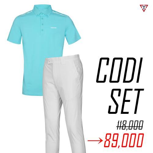 [1+1 세트] 토드휴 여름 슬림핏 골프웨어 아이스쿨 셔츠 M4 + 하이업 시리즈 골프바지-89,000원