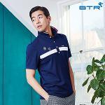 비티알 BTR 골프 남성 여름 배색 카라 티셔츠 에드푸(남) BPT4900M