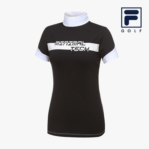[FILA GOLF] 여성 반전배색 하프넥 반팔티셔츠 FG2TSA2203F-BLK_GA