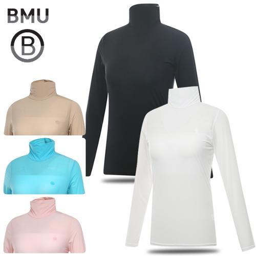 [BMU] UV차단 냉감 나일론스판 솔리드 하프넥 여성 긴팔 이너웨어/골프웨어_238527