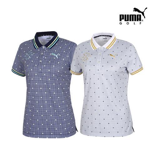 [푸마골프] 여성 Multi 패턴 PK 반팔 티셔츠 2종 택1_GA