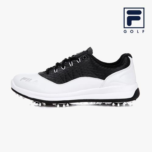 [FILA GOLF] 남성 딤플(화이트/블랙) 골프화 FG1SHA1043M-WBK_GA
