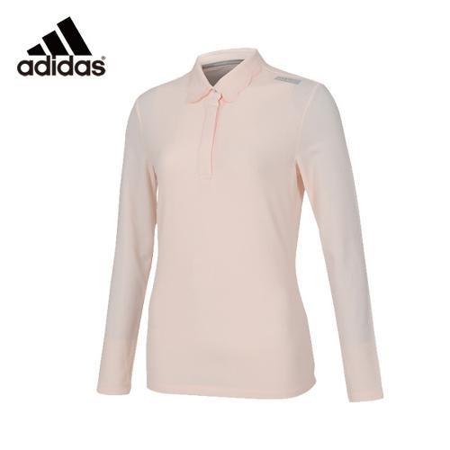 아디다스 클리마히트 폴로 핑크 여성 긴팔티셔츠