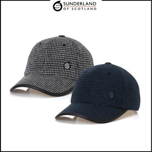 선덜랜드 남성 겨울 방한 울소재 체크무늬 속귀마개 모자 - 16841CP11