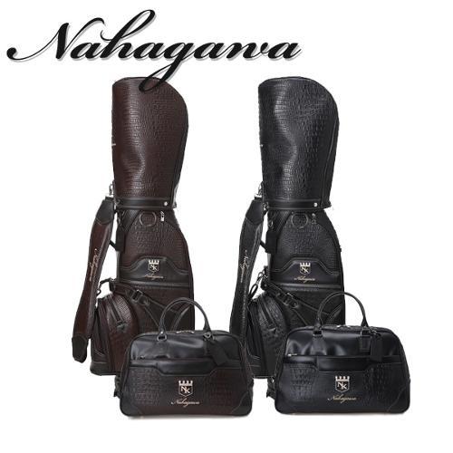 나카가와 NAKAGAWA 남성 고품격 프리미엄 악어무늬원단 캐디백/보스턴백세트 - NK-213M-SET