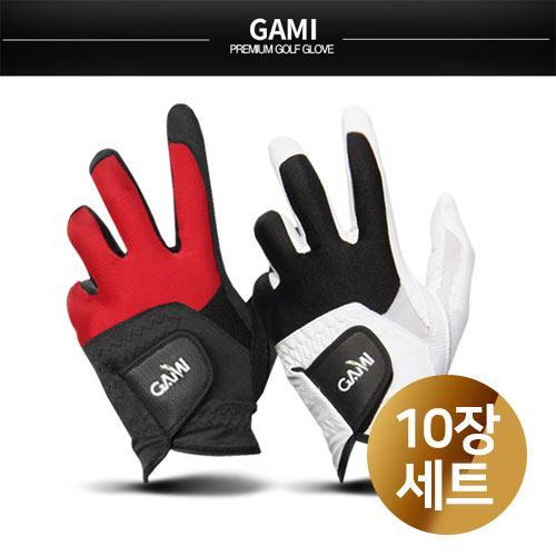 ★탁월한 그립감★  GNG골프 GAMI 남성 합성피혁 10장 1세트 (화이트,블랙)