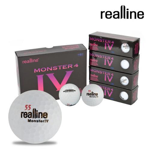 리얼라인 몬스터4 장타 밸런스 골프공(3피스/12알)