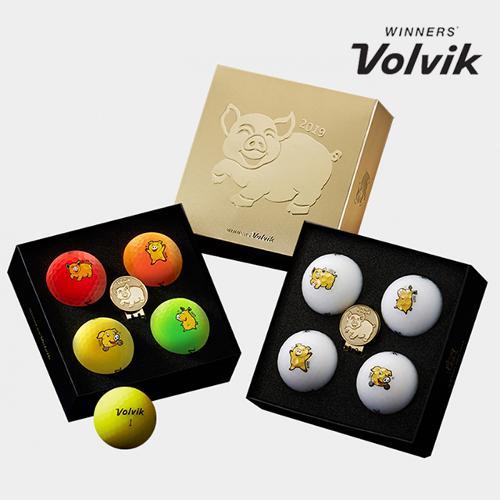 볼빅 황금돼지 에디션 신년세트 골프공 [4구+볼마커]