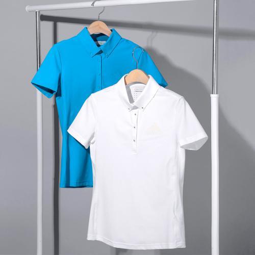 아디다스 SS 이태리 우븐 터치 폴로 여성 반팔 티셔츠