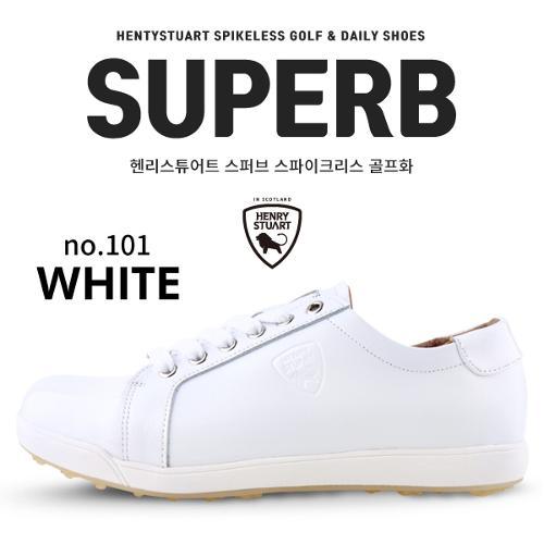 [헨리스튜어트] 스파이크리스 골프화 스퍼브 101  WH