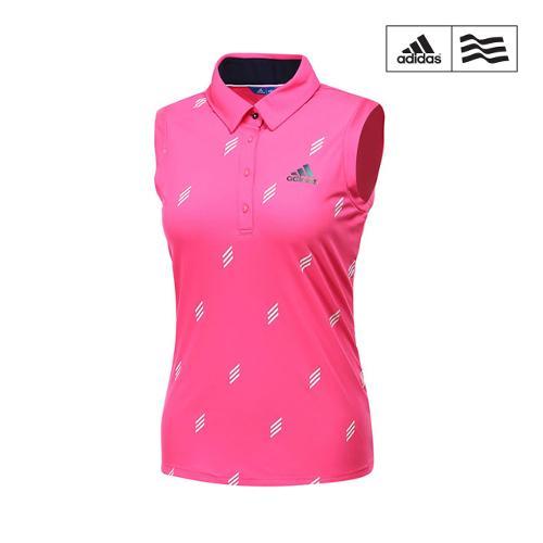 [아디다스골프] 여성 아디크로스 FP 패턴 민소매 티셔츠 CV8760_GA