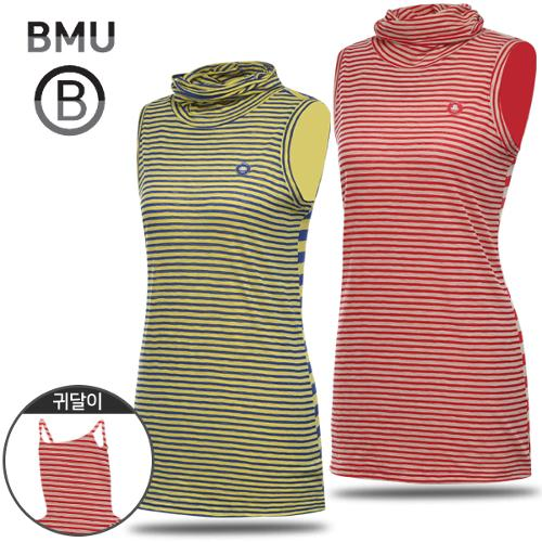 [BMU 골프웨어] 멀티 스트라이프 여성 귀달이 민소매 이너웨어/언더레이어/골프웨어_245296