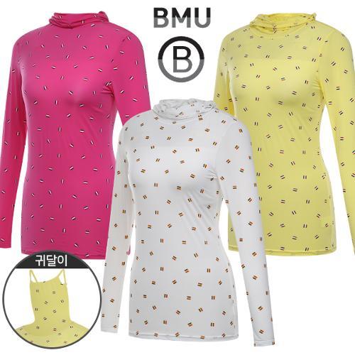 [BMU 골프웨어] 폴리스판 3단배색 여성 귀달이 긴팔 이너웨어/언더레이어/골프웨어_245294