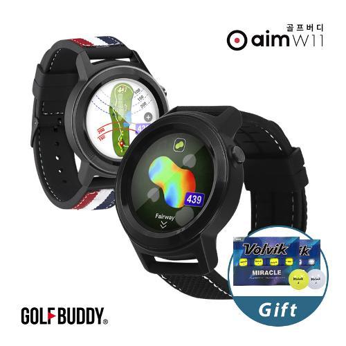 [볼빅 골프공 증정/골프버디] 21년 신제품 aim W11 워치형 골프 거리측정기