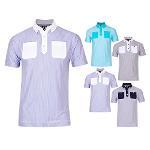 풋조이 OXFORD STRIPE SHIRTS 남성 반팔 셔츠