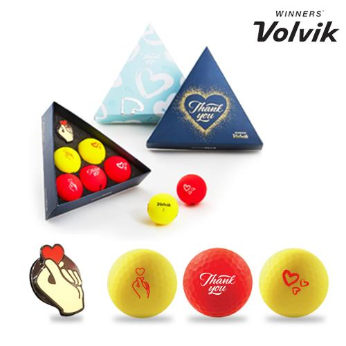 볼빅 땡큐 선물세트 비비드 3피스 골프공
