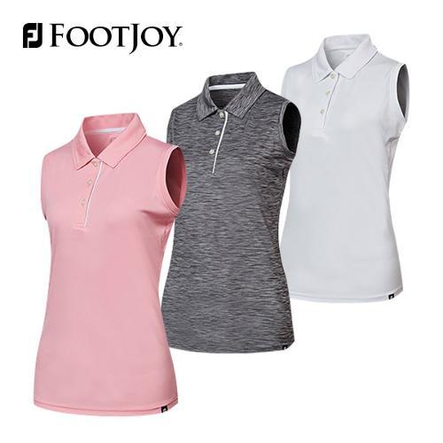 풋조이 슬리브리스 인터락 셔츠 여성 민소매 티셔츠