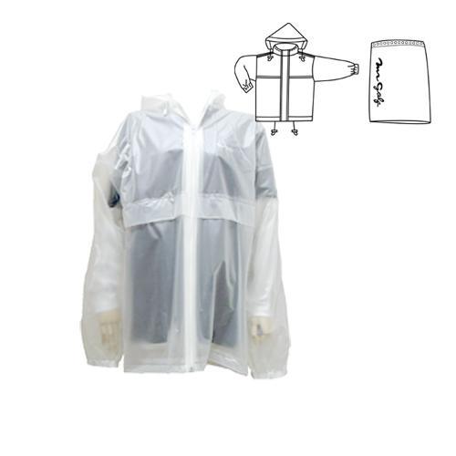 미스터골프 100%방수되는 투명비옷(상의+스커트 방수치마)