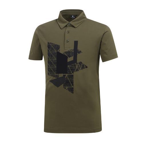 [와이드앵글] 남성 기하학 패턴 포인트 티셔츠 WMM19238K7