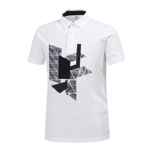 [와이드앵글] 남성 기하학 패턴 포인트 티셔츠 WMM19238W2