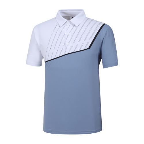 [와이드앵글] 남성 W.아이스 배색 티셔츠 WMM19214B1
