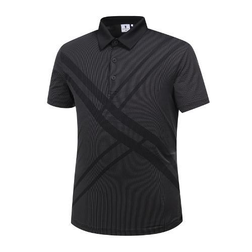 [와이드앵글] 남성 패턴 포인트 잔조직 티셔츠 WMM19219Z1