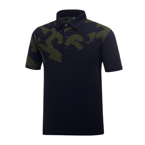 [와이드앵글] 남성 패턴 배색 냉감 써커 티셔츠 WMM19242N4