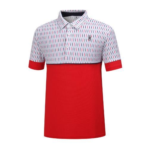 [와이드앵글] 남성 기하학 패턴 배색 티셔츠 2 WMM19237R2